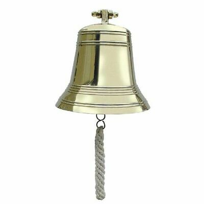 G4449: Ship's Bell with Wall Holder, Bell Heavy Variety, Brass Ø 23 cm 6 Kg