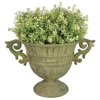 G2774: Antique Planter in Baroque Style, Plants Amphora, Flowers Chalice, Metal