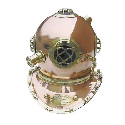 G4751: Patent Taucherhelm Mark V Navy Diving Helmet 1897, Model Helm 48 cm