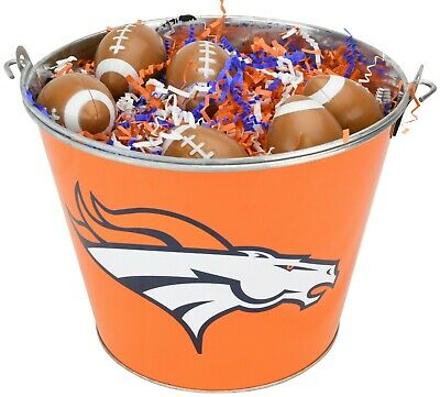 Seattle Seahawks Easter Basket NFL with Football Eggs and Team Color Grass