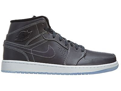 huge selection of bbcd6 5038a Air Jordan 1 Mid Nouveau Mens 629151-004 Wolf Grey Ice Basketball Shoes  Size 10