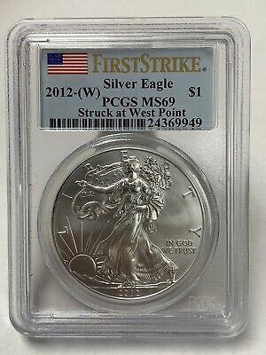 2012-W Silver American Eagle First Strike PCGS MS69 West Point