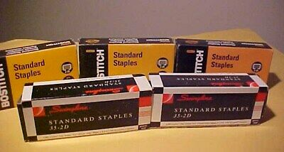 Lot of 5 5000ct Boxes Standard Staples Bostitch & Swingline
