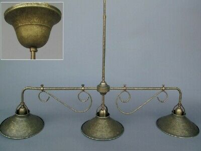 G1050: Designer Billiard Lamp Burnished Brass, Art Deco Hanging Antique Brass