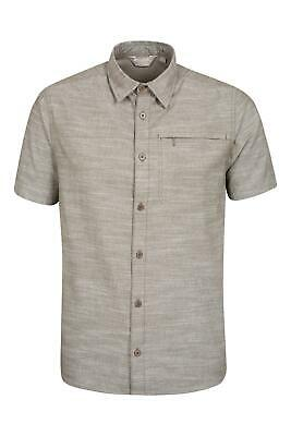 Mountain Warehouse Mens Coconut Textured Short Sleeve Shirt w/ Breathable Fabric