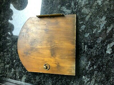 vintage anvil mantle clock back door