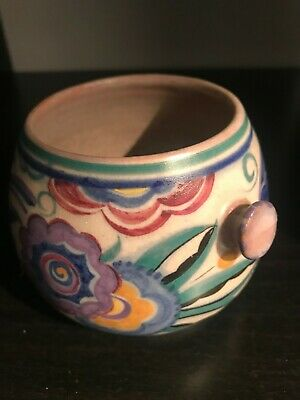 Poole pottery Bluebird pattern biscuit barrel