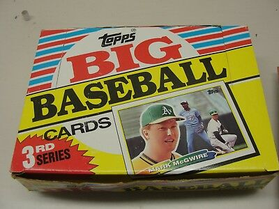 1988 Topps Big Baseball Cards Series Two Unopened Full Wax