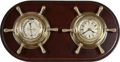 G3102: Maritime Dashboard, Watch and Barometer in the Brass Steering Wheel