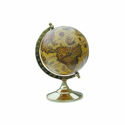 G4420: Small Historic Baroque Globe on Anlaufgeschütztem Messingstand