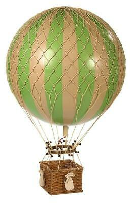 G394: Great Historical Helium Balloon Green White, Jules Verne 42 Cm