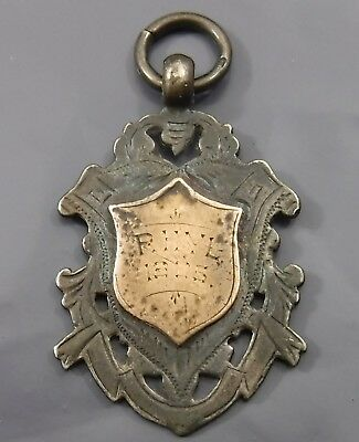 Antique Sterling Silver Fob Medal 'Rhyl 1905' (N Wales) by William Hair Haseler