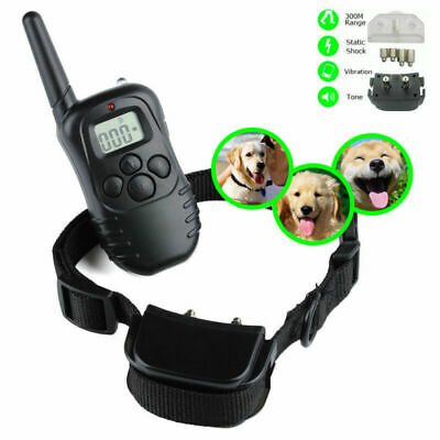 300m Water Resistant Pet Dog Training Collar Electric Shock Remote Rechargeable