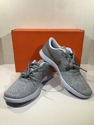 c0aa33525dc Nike Flex Contact Women s Size 9 Wolf Grey Rose Gold Athletic Running Shoes  JT-3