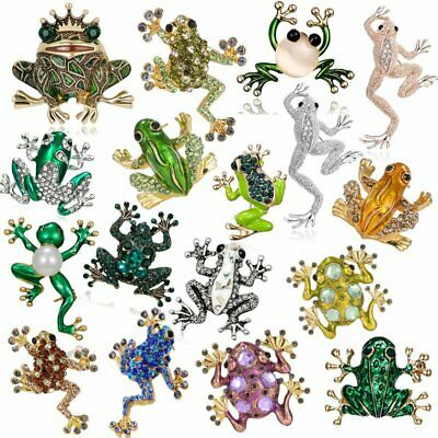 Animal Frog Crystal Rhinestone Enamel Brooch Pin Costume Party Jewelry Gift Hot