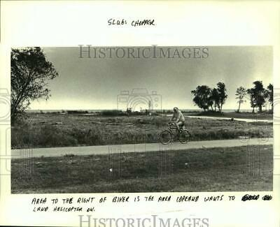1984 Press Photo Lakefront area just over the levee at Lake Villa Drive