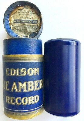 """Antique 1913 Edison Blue Amberol Cylinder Record #2076 """"the Horse Trot"""" & Band"""