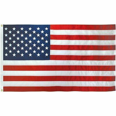 50 QTY - 3x5 Ft American Flag USA Embroidered Nylon Deluxe Stars Sewn US Stripes