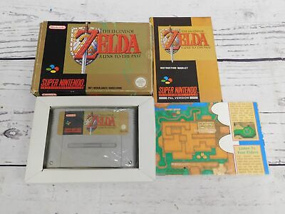 LEGEND OF ZELDA A LINK TO THE PAST Nintendo Game Boxed Complete CIB PAL - N14