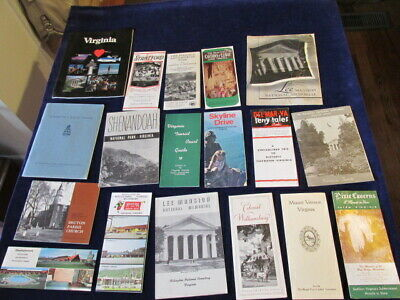 Vintage Virginia Travel Tourist Brochure Guide w/Map Lot of 18 VA   SL27