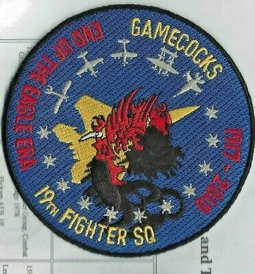 Us Air Force 19th Pursuit Squadron Gamecocks Patch Aviation inactive