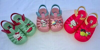 Hello Kitty Mini Croc Melissa Water Sandals Girls Infant Shoes 6 7 8 9 10 size