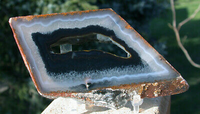 """SiS: ABSOLUTELY PERFECT 5"""" Polyhedroid Agate Specimen - TOP GRADE!"""