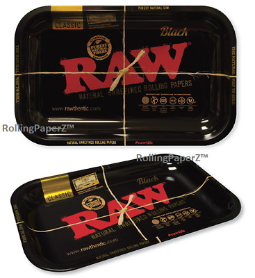 "New! RAW BLACK Rolling Papers TRAY (10.8""x6.8""x1"") - Limited Edition RAWthentic!"