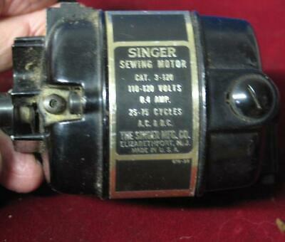 Vintage Singer Featherweight 221 Sewing Machine Drive Motor