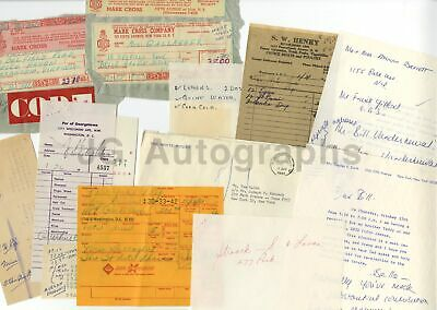 John F. Kennedy & Jackie - Ephemera Lot Receipts and Ephemera w/ Mary Gallagher