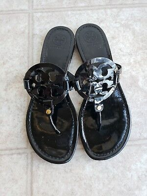 de863d26e01ed0 TORY BURCH MILLER Black Veg Leather Thong Sandal -  179.00