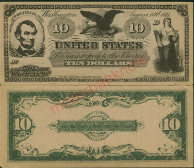 A20 (Variety 6) Brown Wide Lincoln $10 Demand Movie Prop Stage Money Note!