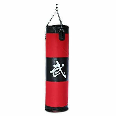 100cm Punching Bag with Chains Muay Thai Punching Sparring Kickboxing Training