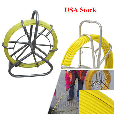 6MM Fish Tape Fiberglass Wire Cable Running Rod Duct Rodder Fishtape Puller US