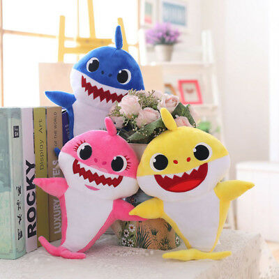 Cartoon Stuffed Toy Baby Shark Singing Doll ♫ doo Music Plush Toys Cute Gift L