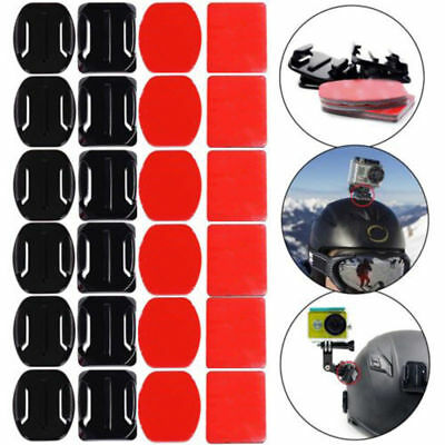 12Pcs 3M Adhesive Sticky Pads Flat & Curved Mount For Gopro Hero 2 3 3+ 4 5 6 7