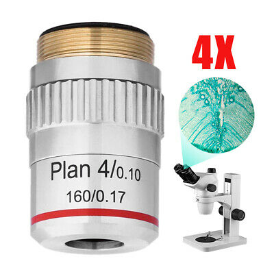 4X Plan Achromatic Microscope Objective Lens For Compound Microscopes 195mm