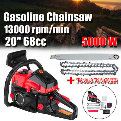 "5000W 68CC Petrol Commercial Chainsaw Pruner 20"" Bar Chain Saw Pruning Cutter"