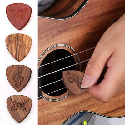 Wooden Acoustic Guitar String Picks Plectrums Plectron Thin Bass Pick Standard