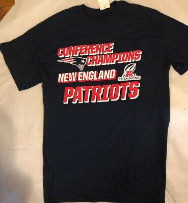 New Black New England Patriots Conference Champions T-Shirt Men's Large