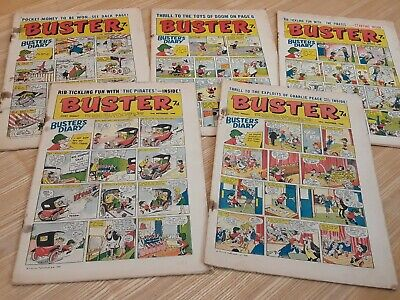 5 x 1966 Buster Comics. Job lot.