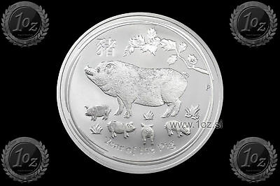 AUSTRALIA 1 DOLLAR 2019 ( LUNAR - Year of the PIG ) 1oz SILVER coin (Ag 999) BU