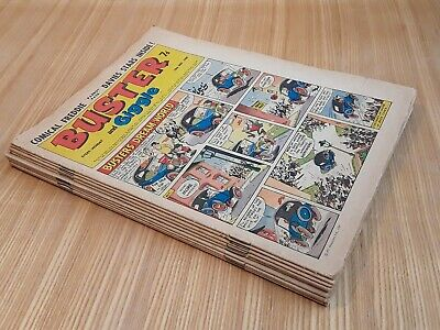 9 x 1969 Buster Comics. Job lot.