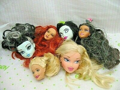 BARBIE MONSTER HIGH BRATZ DISNEY Doll Head Lot FOR OOAK CRAFTS REPAIR PARTS TLC
