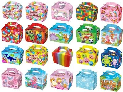 Party Food Boxes Loot Lunch Cardboard Gift Childrens Kids Happy Birthday