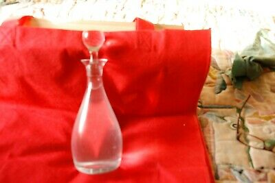 Heavy Glass Wine Carafe With Stopper to take I full bottle of Wine 70 cl