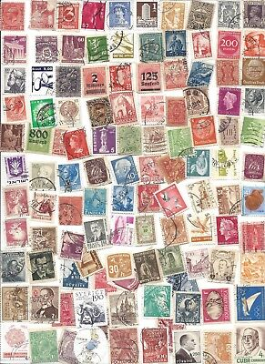 100 Different cancelled Worldwide  Stamps 12/19