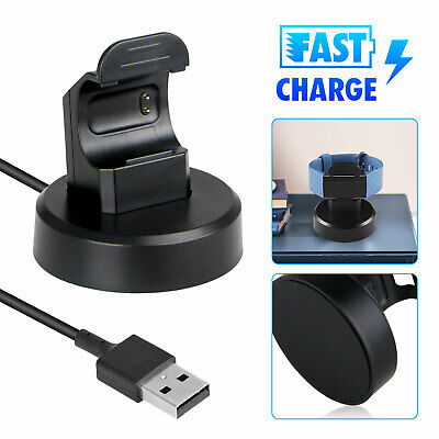 Fast Charging Dock Cradle Stand Station Watch Charger for Fitbit Charge 3/3 SE