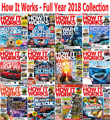 How It Works - 12 Magazines - Full Year 2018 Collection - Digital PDF