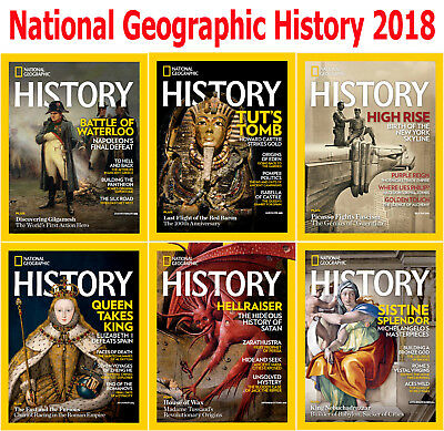 National Geographic History - 6 Magazines - 2018 Full Year Issues - Digital PDF